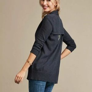 CAbi Victoria Open Front Cutout Back Cardigan NWT